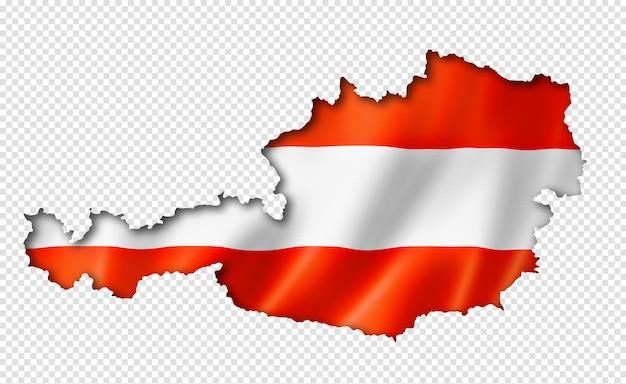 Österreichische flaggenkarte