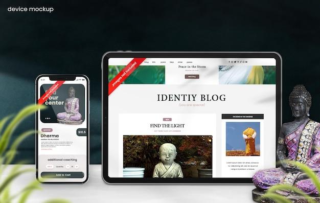 Östliches telefonmodell für blog- und website-schaufenster