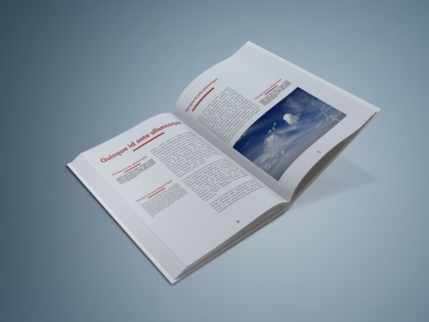Offenes buch mock up