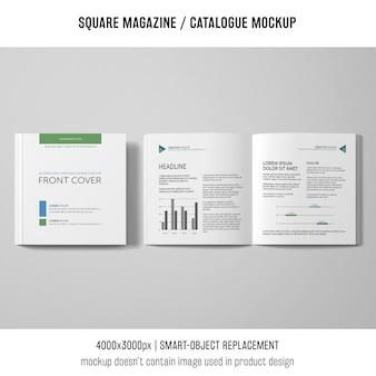 Offenes und geschlossenes quadratisches magazin oder katalogmodell