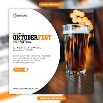 Oktoberfest bier festival social media und instagram post template