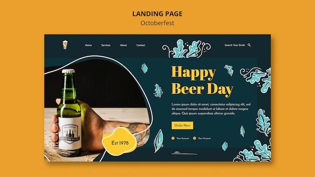 Oktoberfest festival landing page