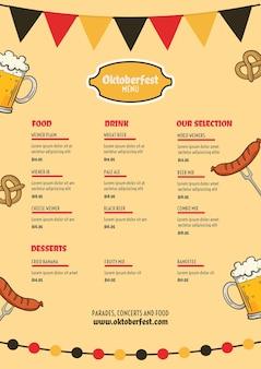 Oktoberfest-menüvorlage