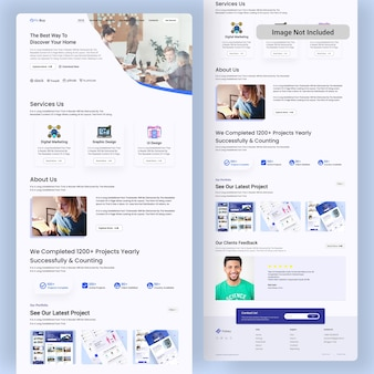 Online agency landing page