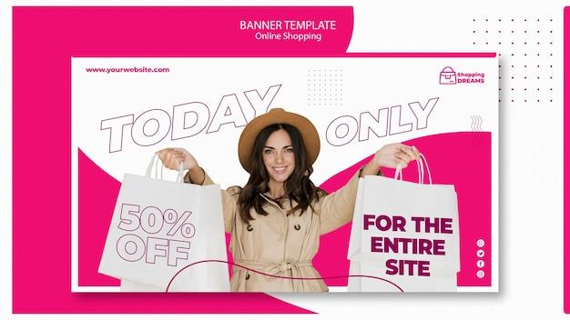 Online-bannerthema einkaufen