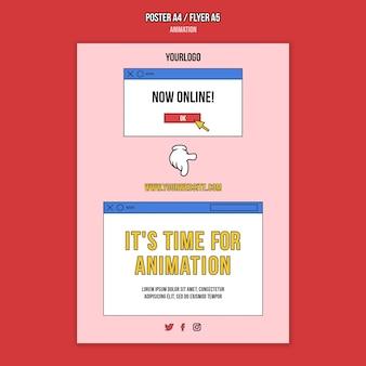 Online-druckvorlage für animationsklassen