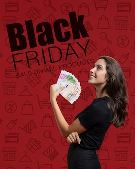 Online-einkäufe am schwarzen freitag