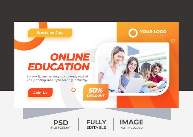 Online eudcation banner vorlage