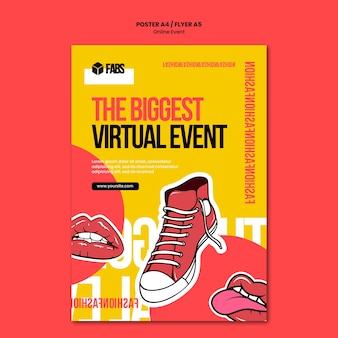 Online event poster vorlage