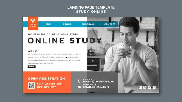 Online-landingpage für studien