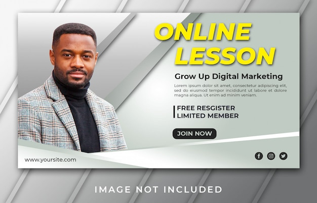 Online lesson banner template