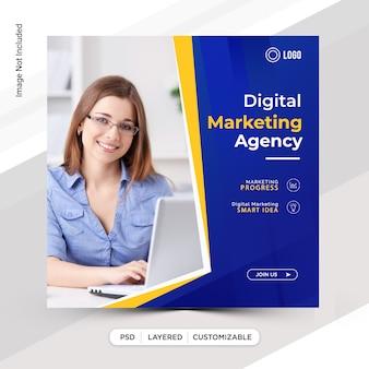 Online-marketing instagram post template-design