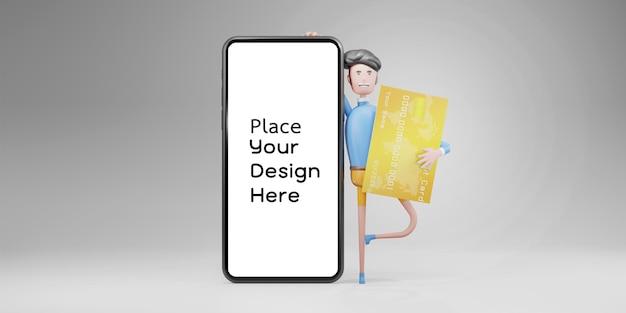 Online-shopping auf rendering-design für mobile anwendungen isoliert