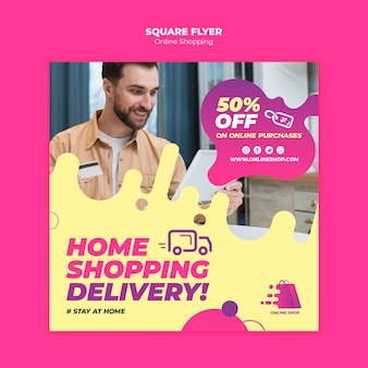 Online-shopping-flyer-design
