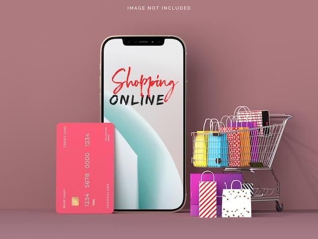 Online-shopping mit smartphone-modellen