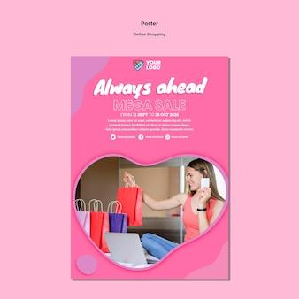 Online-shopping poster vorlage design