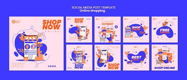 Online-shopping social media post