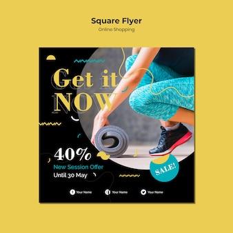 Online-shopping-square-flyer-stil
