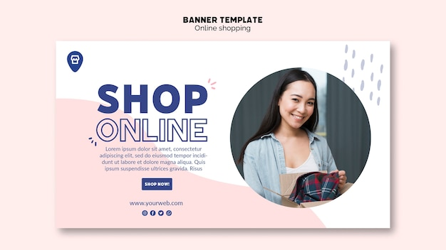 Online-shopping-thema für banner-vorlage