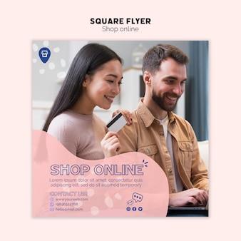 Online-shopping-thema für flyer