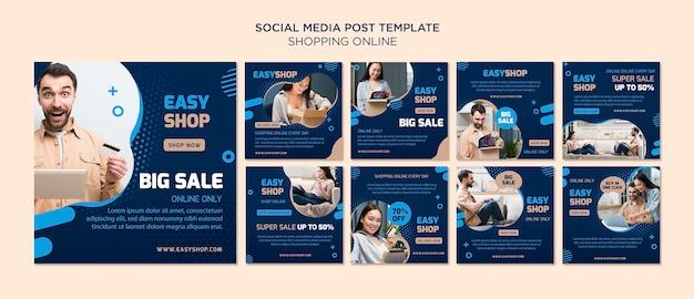 Online-social-media-beitrag einkaufen