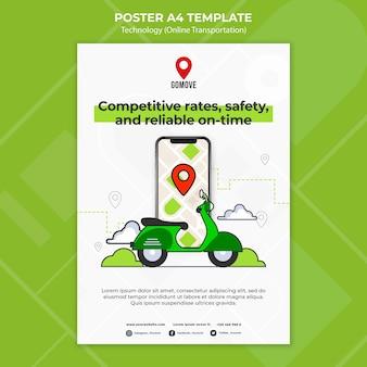 Online-transportplakatvorlage