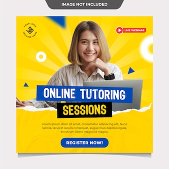 Online tutoring social media post vorlage