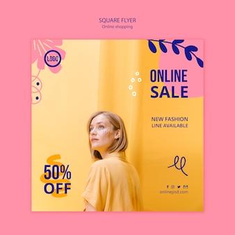 Online-verkauf flyer vorlage