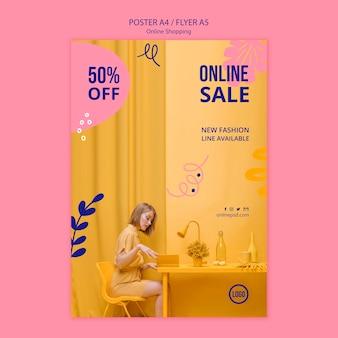 Online-verkauf poster vorlage