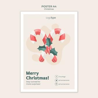 Online-weihnachtseinkaufsplakatschablone