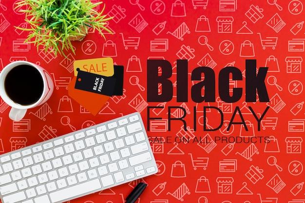 Online-werbung für den schwarzen freitag