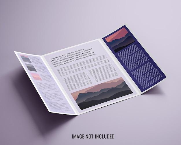 Open-gate-fold-broschürenmodell
