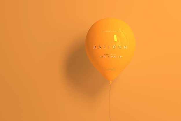 Orange ballon modell