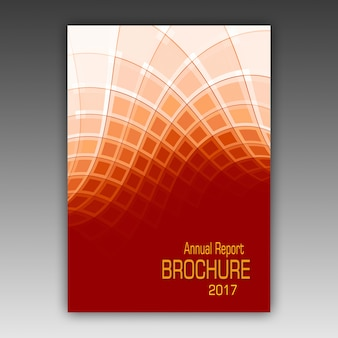 Orange broschüre vorlage