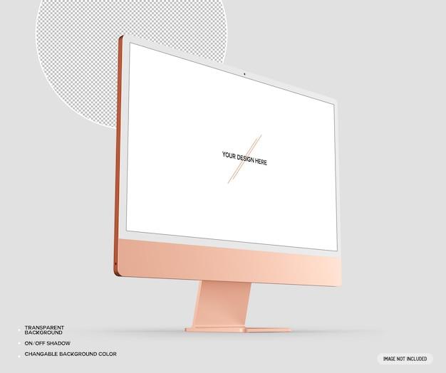 Orange desktop-computermodell