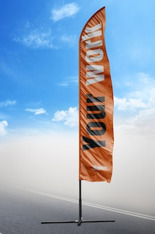 Orange fahne verspotten