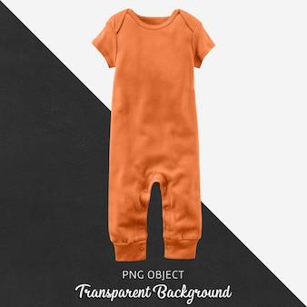 Orange jumpsuit für baby oder kinder auf transparent