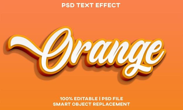 Orange text-effekt-stilvorlage