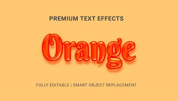 Orange texteffekt