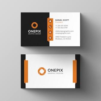 Orange visitenkarten-design