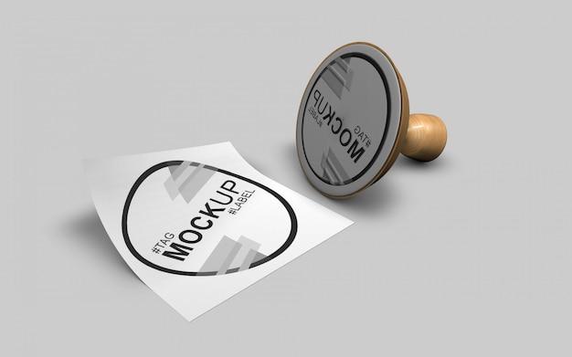 Ordentliches und modernes briefmarkenmodell