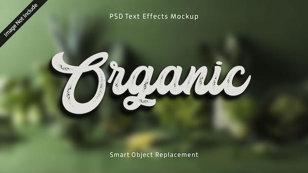 Organisches 3d-text-effekt-modell