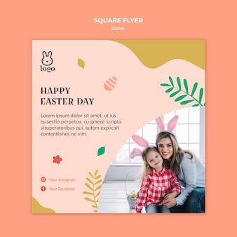 Ostern festival flyer vorlage