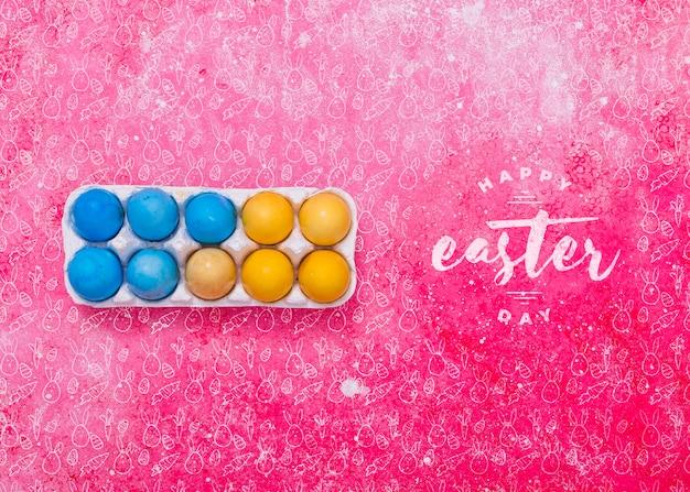 Ostern-modell mit eierkarton