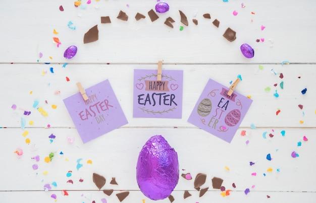 Ostern-modell mit notizen