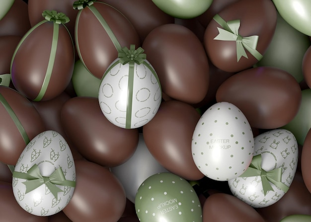 Ostern schokoladen-ei-modell