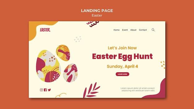 Ostern tag landingpage vorlage
