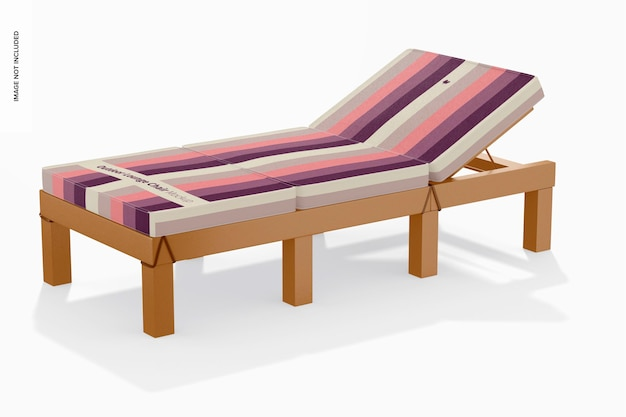 Outdoor lounge chair mockup, rechte ansicht