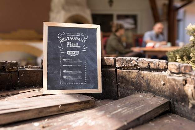 Outdoor-menü menü konzept modell