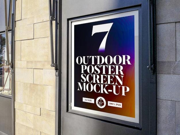 Outdoor poster screen mockup